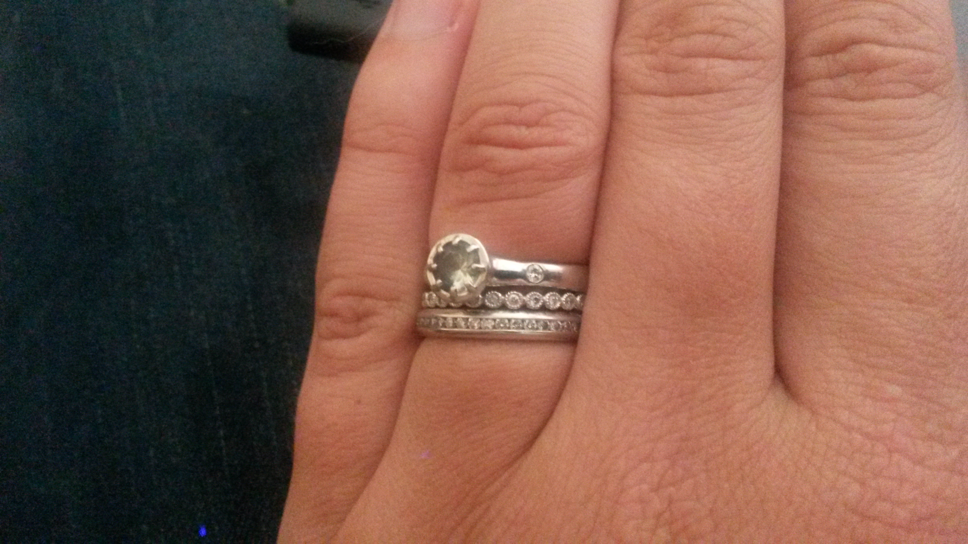 show me your unique diamond wedding bands and stacks etsy wedding bands I got both bands vintage off etsy for really good prices I know it makes a lot of people nervous to shop online